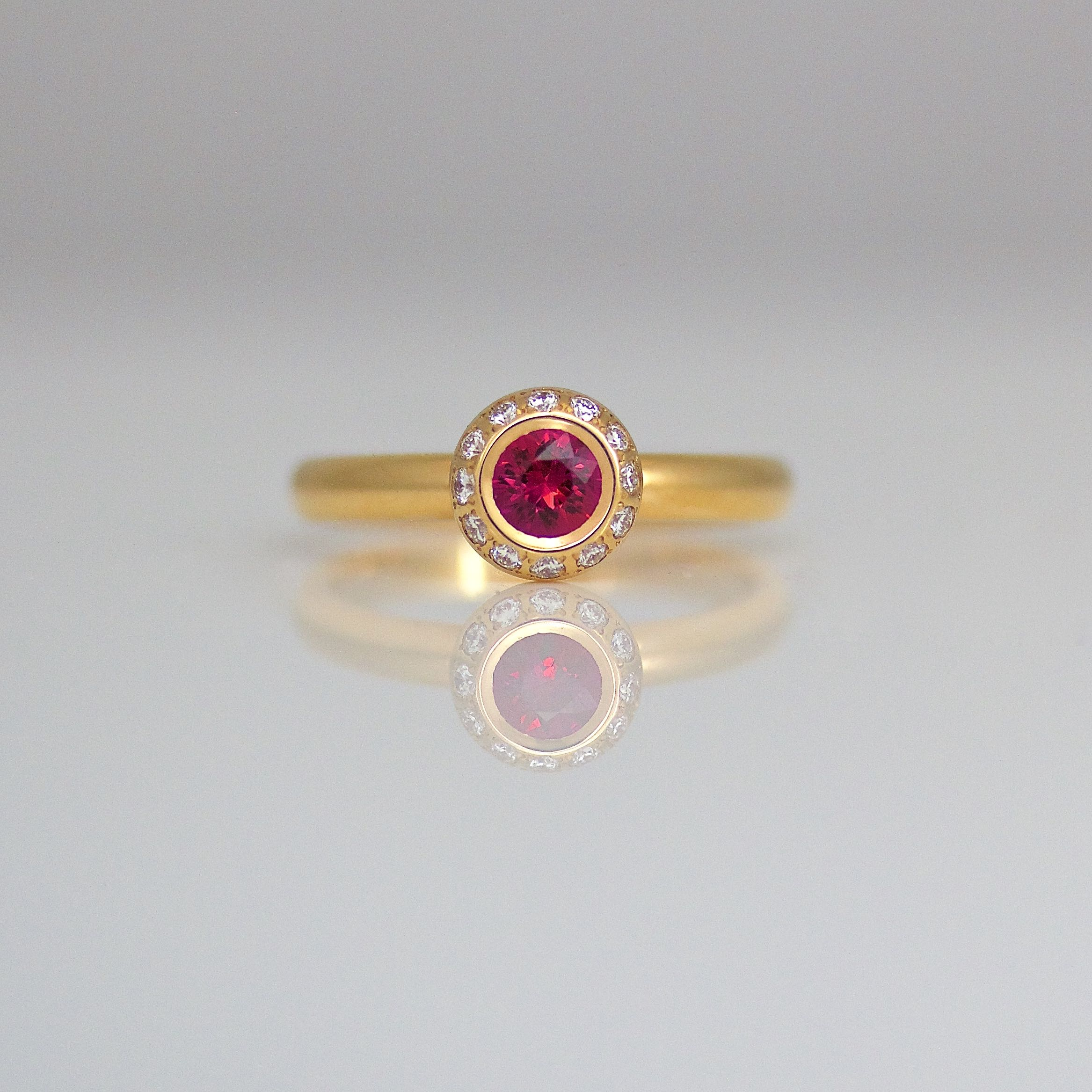 Rose Gold Ruby And Diamond Ring The Finest Jewellery Handmade In London  Bespoke