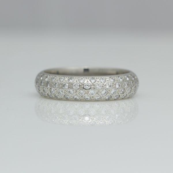 Sapphires in Platinum eternity ring