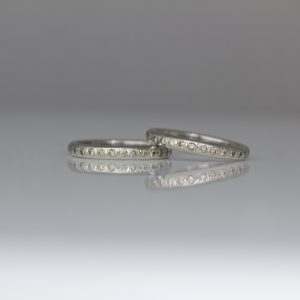 Natural pink champagne diamonds set in platinum