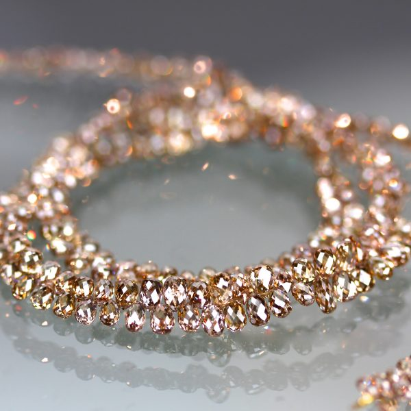 Pink champagne diamond necklace