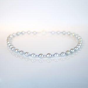 Tanzanite pearl aquamarine necklace