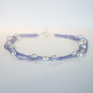 Tanzanite & Southsea pearl necklace