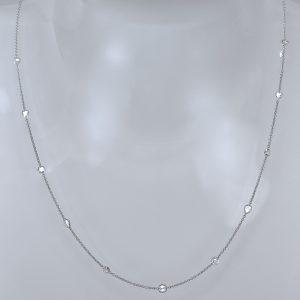 Rose cut diamond modern necklace