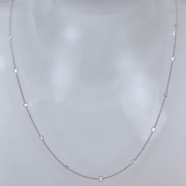 Rose cut diamond modern necklace
