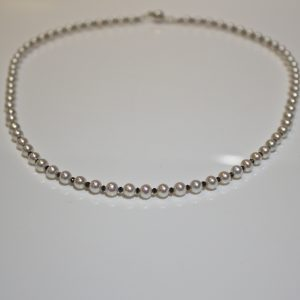 Black diamond & pearl necklace